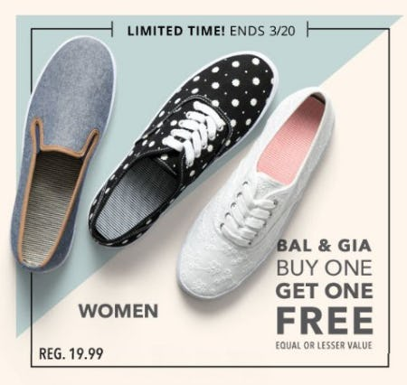 Bal & Gia Buy One, Get One Free from Payless ShoeSource