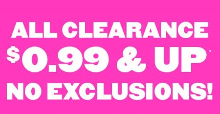 All Clearance $0.99 & Up