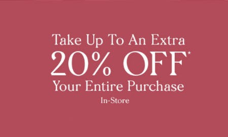 Up to an Extra 20% Off Entire Purchase from Zales Jewelers