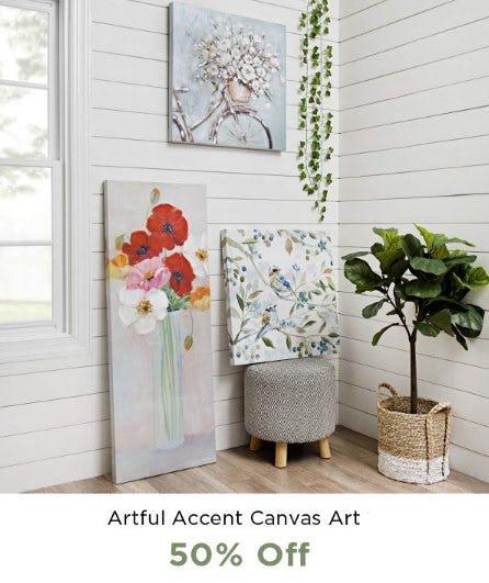 Artful Accent Canvas Art 50% Off from Kirkland's