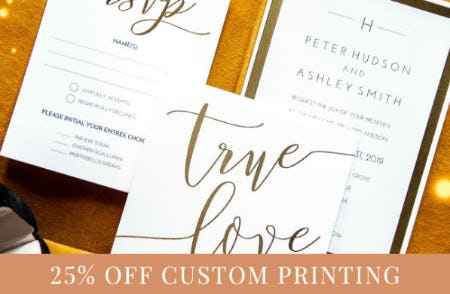 25% Off Custom Printing from PAPYRUS