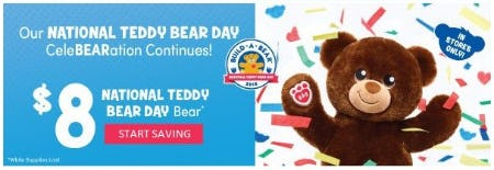 $8 National Teddy Bear Day Bear from Build-A-Bear Workshop