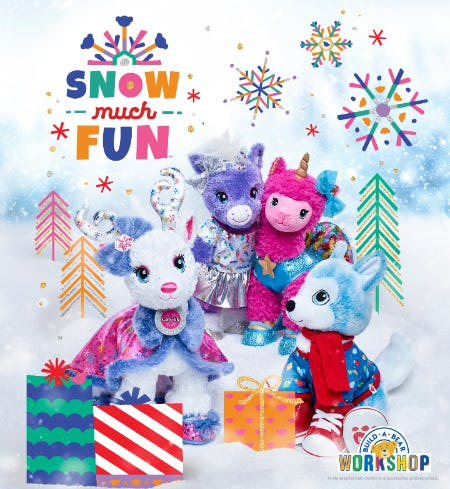 It's SNOW Much Fun Going on Adventures at Build-A-Bear Workshop!®