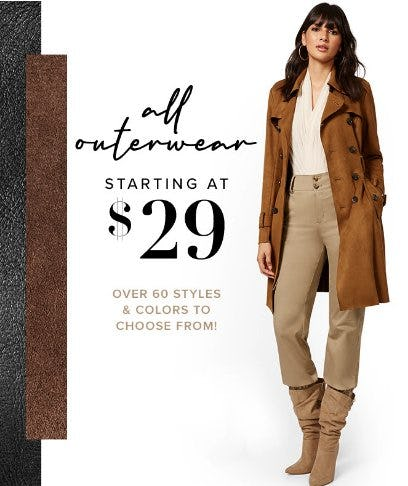 All Outerwear Starting at $29 from New York & Company