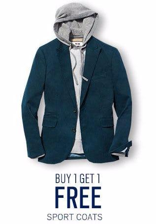 Buy 1, Get 1 Free Sportcoats