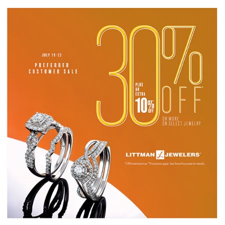 Preferred Customer Sale from Littman Jewelers