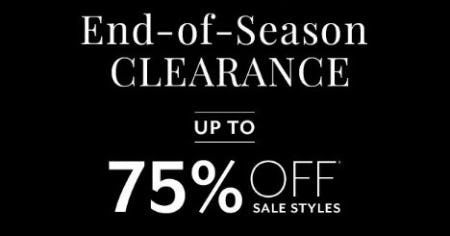 End-of-Season Clearance: Up to 75% Off Sale Styles from White House Black Market