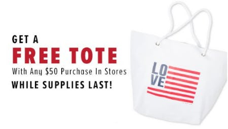 Free Tote With Any $50 Purchase from New York & Company Outlet