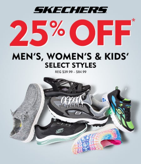 25% Off Skechers from Shoe Carnival