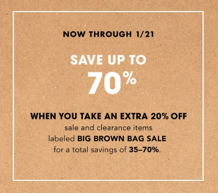 bc504d70af58 Up to 70% Off Big Brown Bag Sale at Bloomingdale s