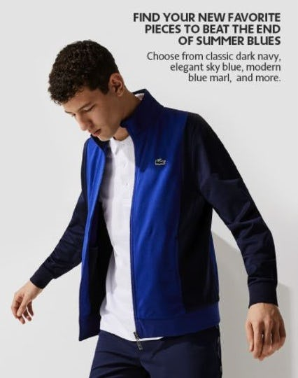 Beat the End of Summer Blues from Lacoste