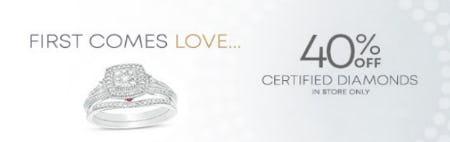 40% Off Certified Diamonds from Piercing Pagoda