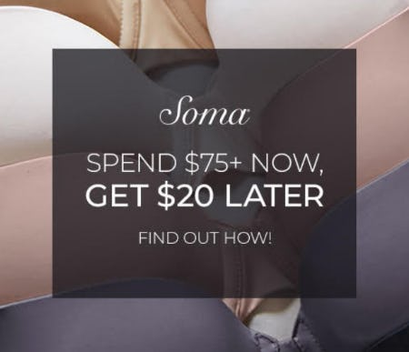 REMINDER TO REDEEM YOUR BOUNCEBACK from Soma Intimates