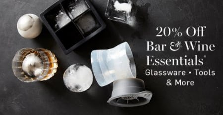20% Off Bar & Wine Essentials