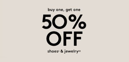 BOGO 50% Off Shoes & Jewelry