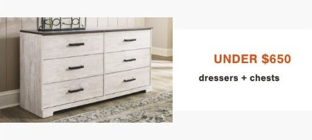 Under $650 Dressers and Chests from Ashley Homestore