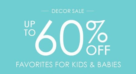 Decor Sale up to 60% Off from Pottery Barn Kids