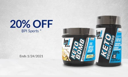20% Off BPI Sports from The Vitamin Shoppe