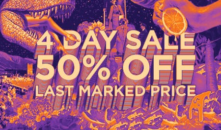 50% Off Last Marked Price