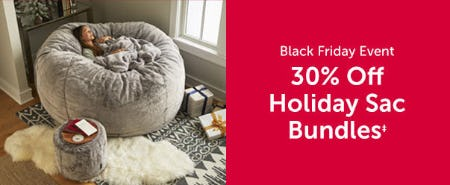 30% Off Holiday Sac Bundles from Lovesac Designed For Life Furniture Co