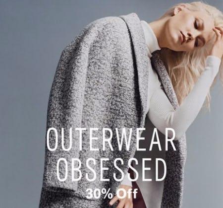 All Women's Outerwear 30% Off