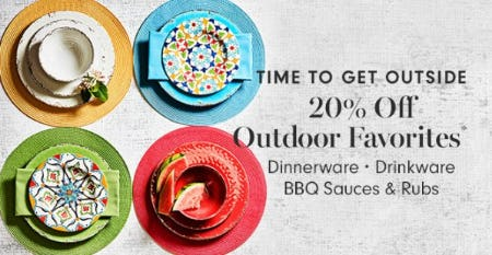 20% Off Outdoor Favorites from Williams-Sonoma