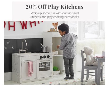 20% Off Play Kitchens