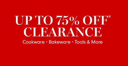 Up to 75% Off Clearance from Williams-Sonoma