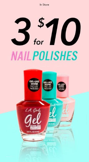 3 For $10 Nail Polishes
