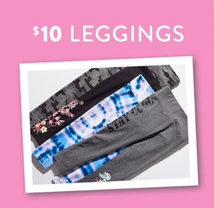 $10 Leggings from Justice