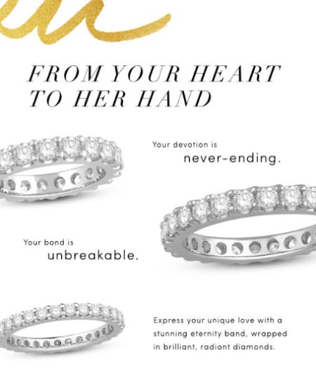 From Your Heart to Her Hand from Jared Galleria Of Jewelry