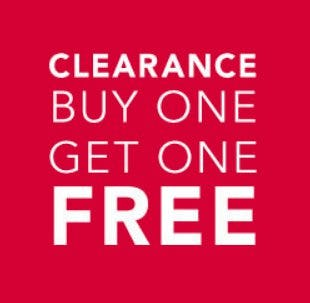 Clearance Buy One, Get One Free from Cacique