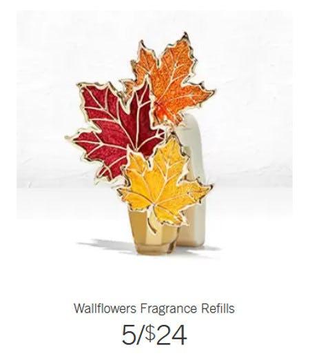 Wallflowers Fragrance Refills 5 for $24 from Bath & Body Works