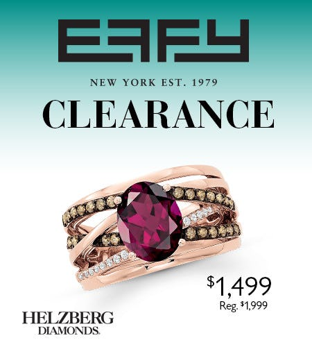 Save Big During Effy Clearance Event*