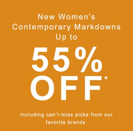 Up to 55% Off New Women's Contemporary