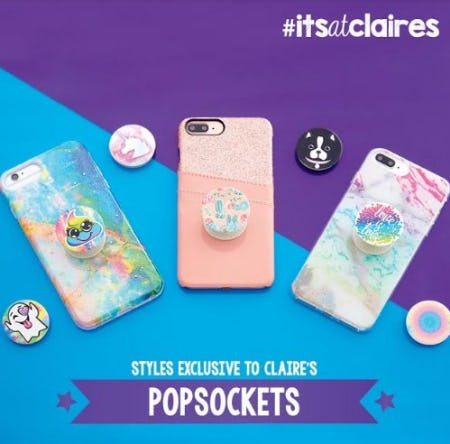 Get a Grip with Fun PopSockets! from Claire's