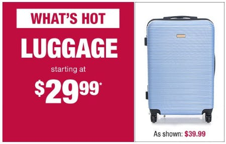 Luggage Starting at $29.99 from Burlington