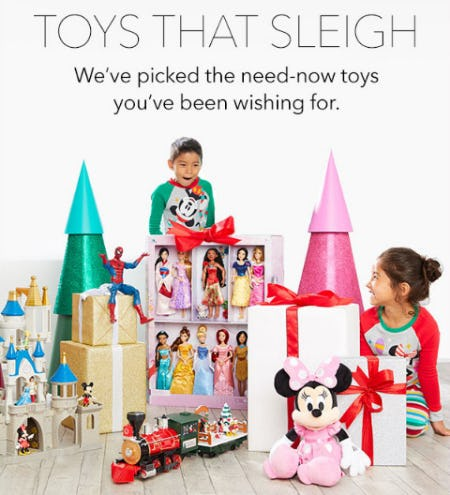 Toys That Sleigh from Disney Store