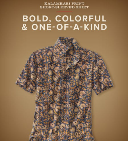Kalamkari Print Short-Sleeved Shirt from Orvis