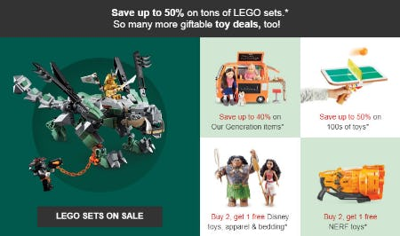 Up to 50% Off Lego Sets from Target