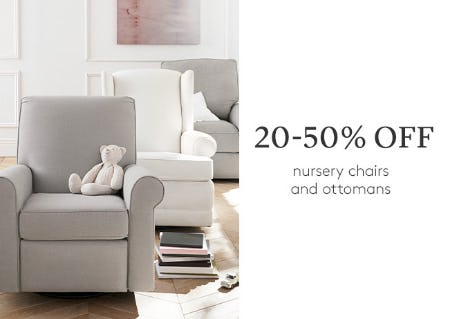 c570e07cdd 25-50% Off Nursery Chairs and Ottomans from Pottery Barn Kids