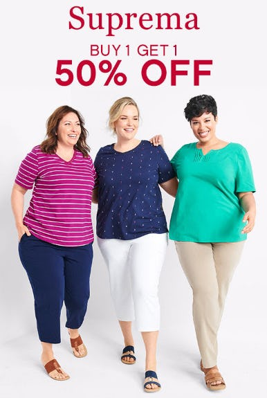 BOGO 50% Off on Suprema from Catherines Plus Sizes