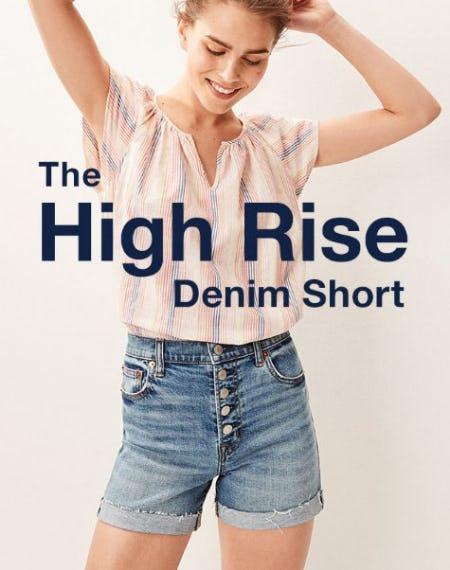 The High Rise Denim Short