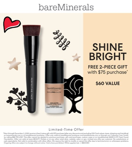Brush and Highlighter with a $75 Purchase from bareMinerals