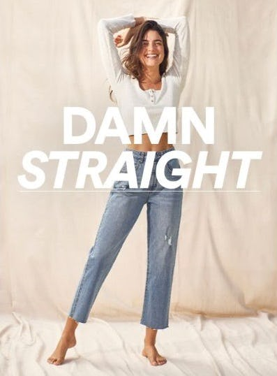 All New Straight Leg Jeans