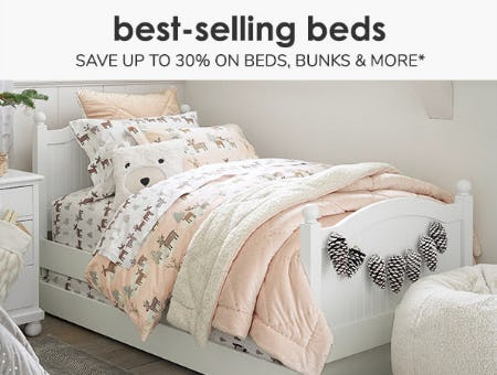 Save Up to 30% On Beds, Bunks & More from Pottery Barn Kids