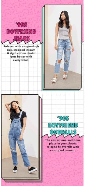 Just Dropped: NEW '90s-vibe Jeans & Overalls from American Eagle Outfitters