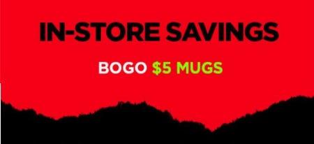 BOGO $5 Mugs from Spencer's Gifts