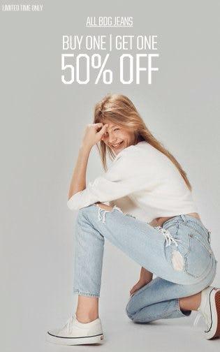 All BDG Jeans BOGO 50% Off