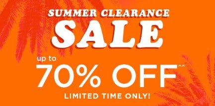 Summer Clearance Sale up to 70% Off from rue21